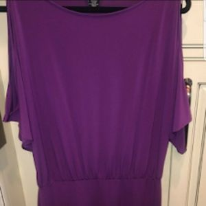 Moda International Womens Size L Purple Dress
